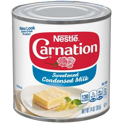 Condensed milk canned foods