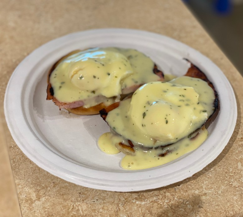 Eggs Benedict ham recipe