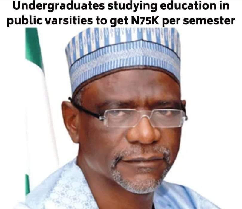 Federal Government approves money as stipend for education students in public universities. Thingscouplesdo.com