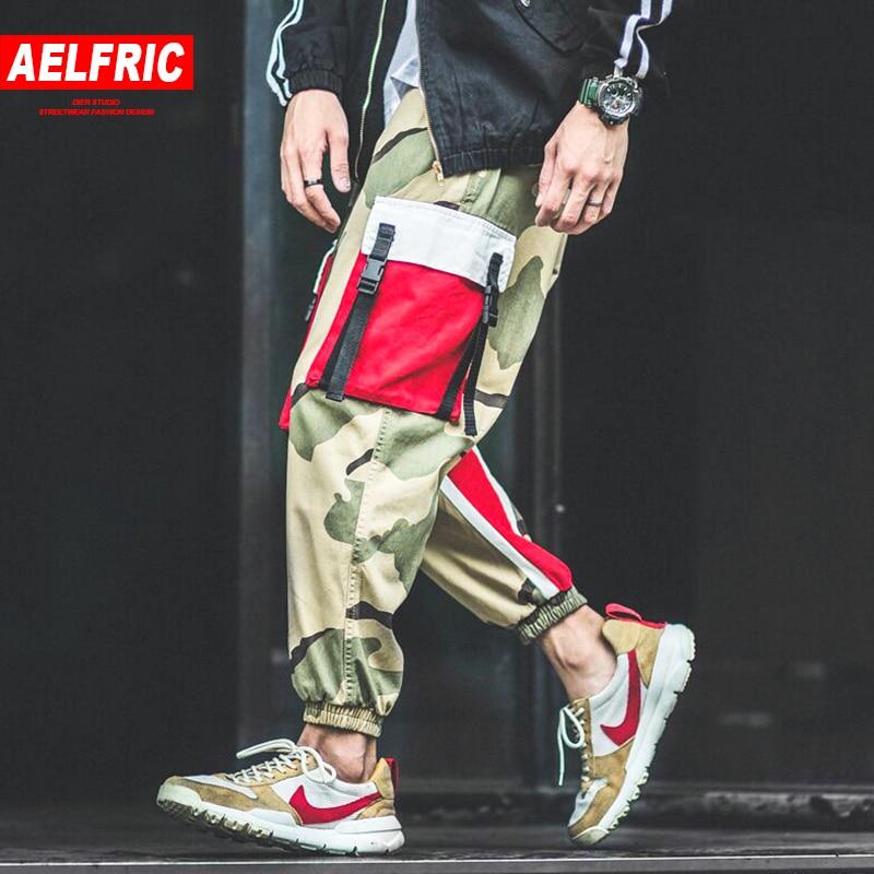3afa6305d3db9f Home / MEN / Men Bottoms / AELFRIC Men Jogger Camouflage 2018 Summer Autumn Hip  Hop Sweatpants Fashion Harajuku Urban Joggers Casual Pants Streetwear B034