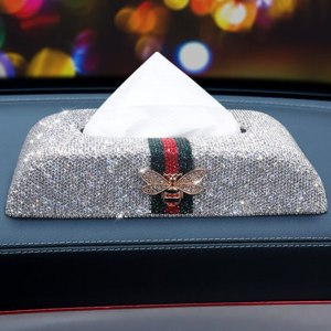 Luxury Full Rhinestones Gucci Inspired Car Tissue Box Holder
