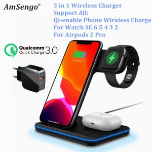 For iPhone 12 Pro 11 XS XR MAX/ Qi Wireless Charger