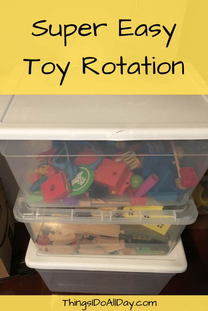 Easy Toy Rotation for kid toys to stay organized and more toy play