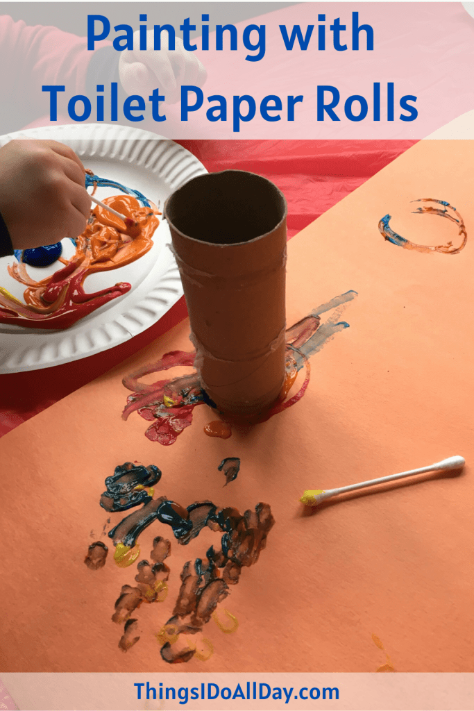 Painting with Toilet Paper Rolls for Kids