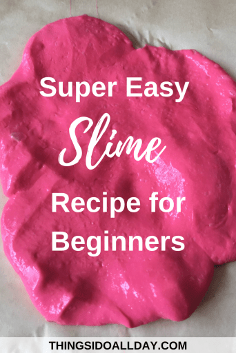 DIY Easy Slime Recipe for Kids and Beginners with No Borax
