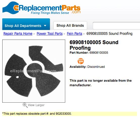 Fein Dust Extractor Parts