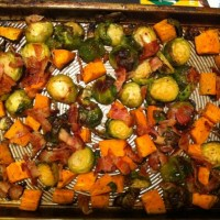 Recipes: Brussel Sprouts, Bacon & Sweet Potatoes