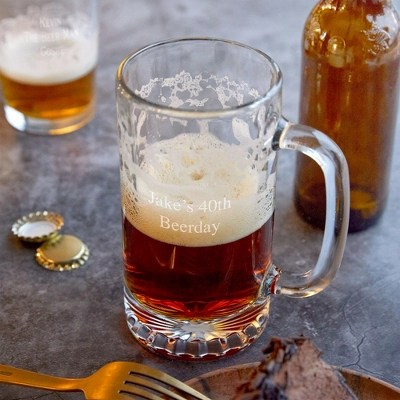 personalized beer glasses mugs
