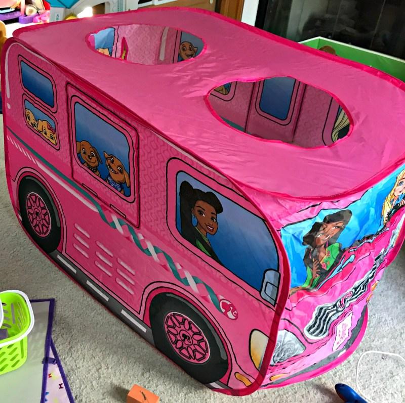 Barbie Dream Camper Pop Up Tent