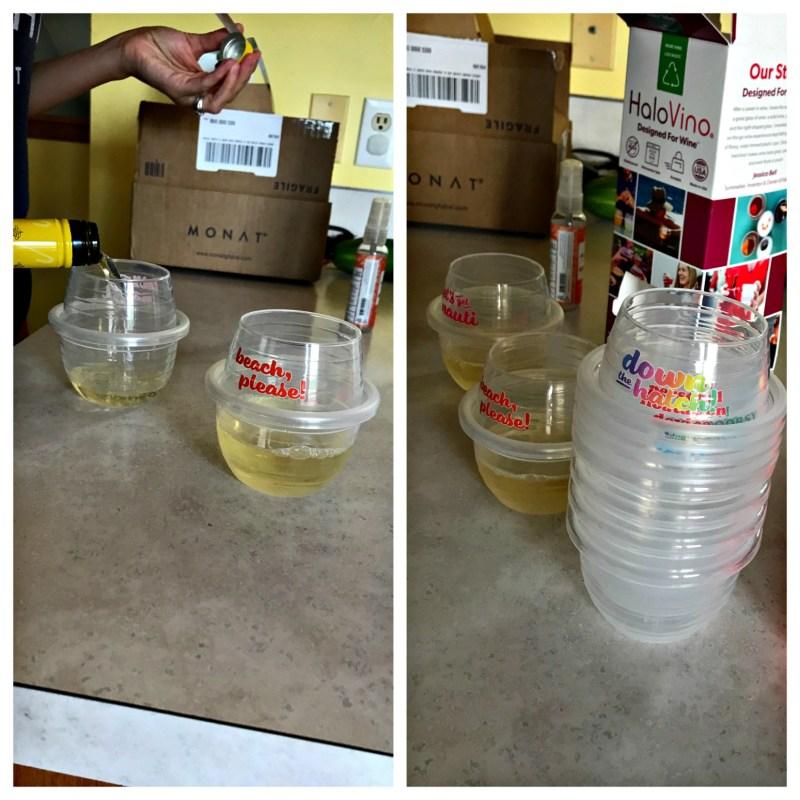 Snarky Plastic Wineglasses
