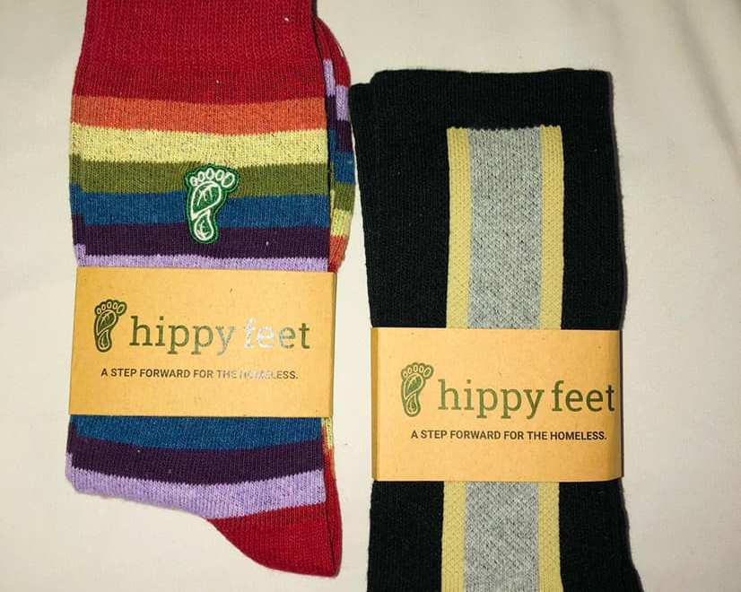 Hippy Feet, sock apparel that supports homeless youth
