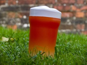 Beer Glass Squeaky Dog Toy