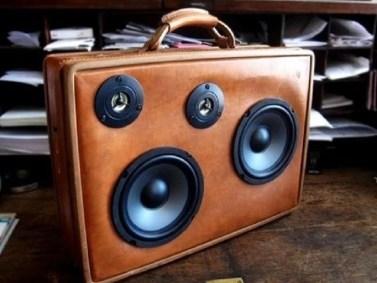 Vintage Suitcase Speakers