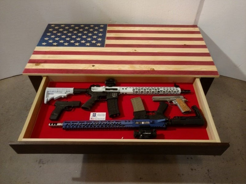 American flag concealment coffee table