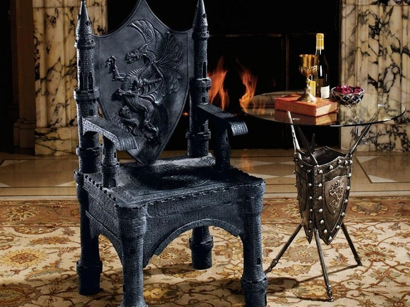 The Dragon of Upminster Castle Throne Chair
