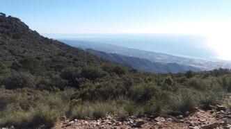 Walking La Concha mountain to beach