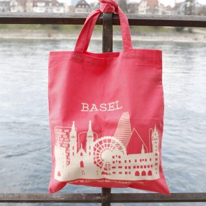 The Basel bag - white on pink