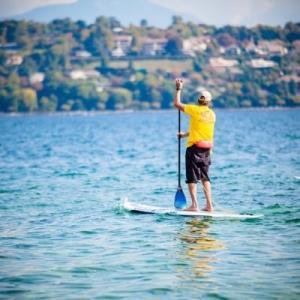 Paddle boarding in Geneva