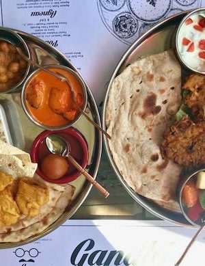 Indian food Geneva thalis