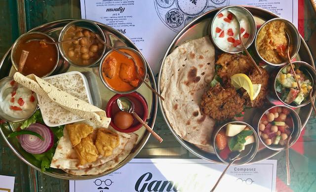 Indian food Geneva thalis