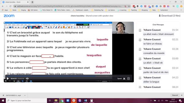 quality online French courses Geneva