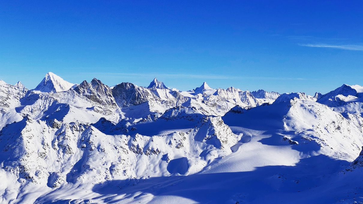 View of the Matterhorn from Mont Fort - ski resorts near Geneva