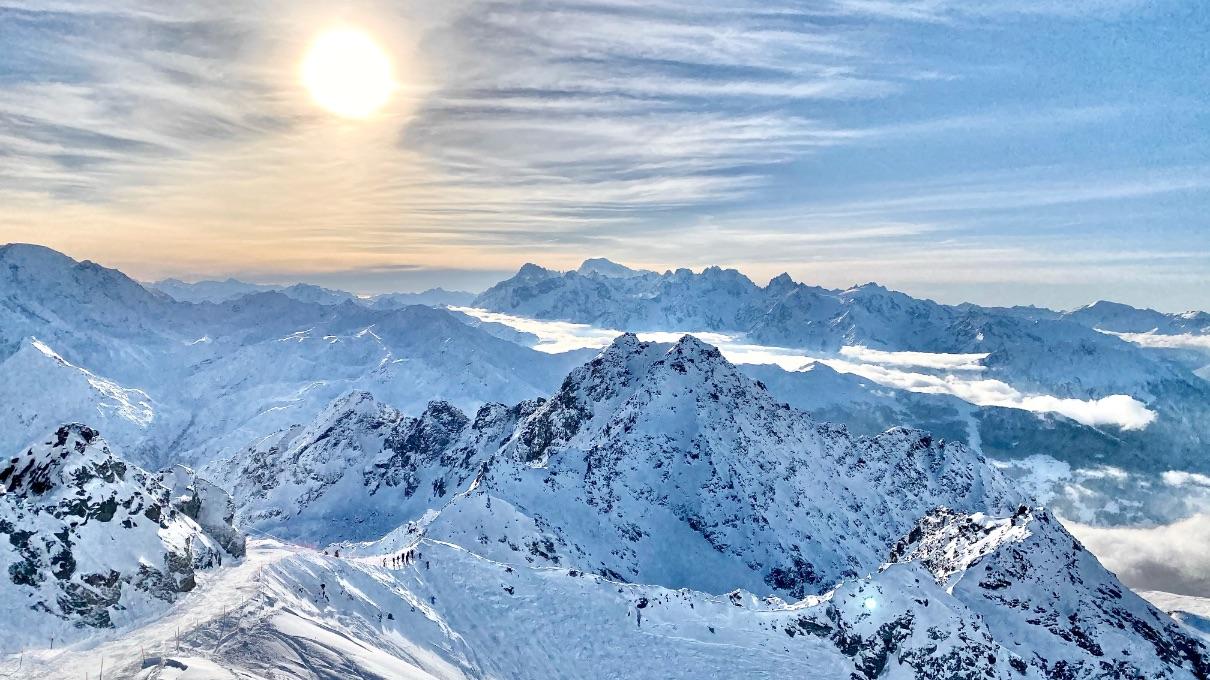 View from Mont Fort - ski resorts near Geneva