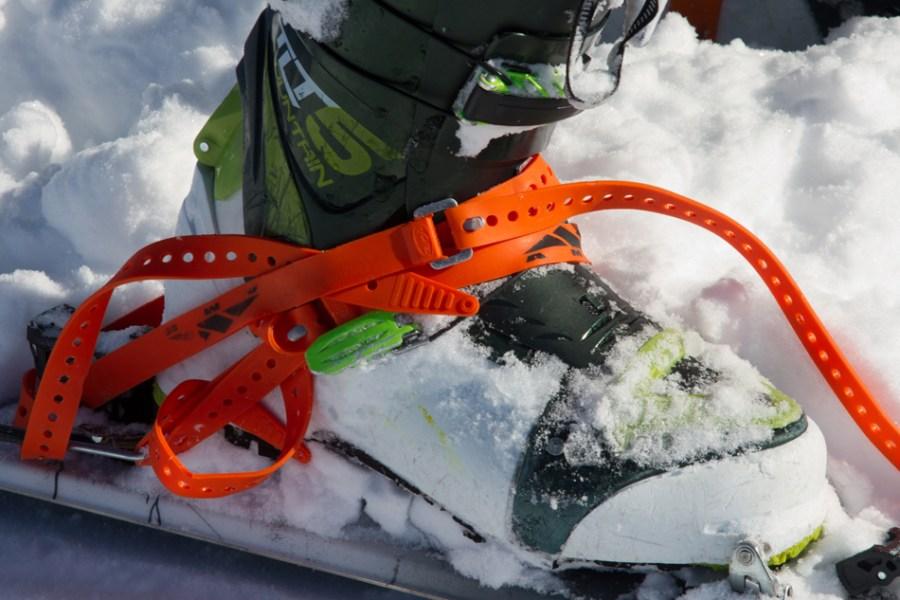 Danny Powers loving his ski-straps, Mt. Fairweather, Alaska