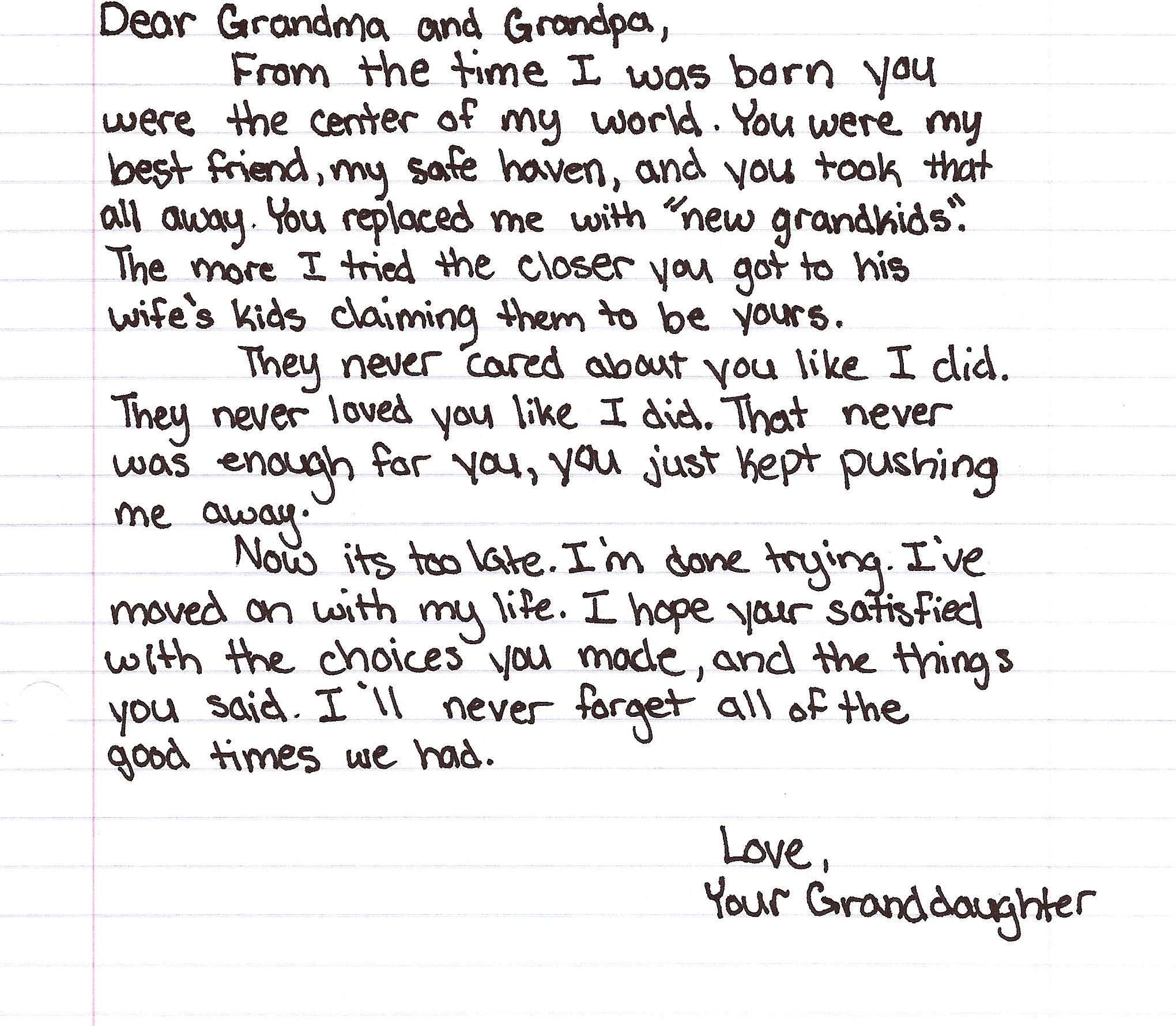 Letter 19 Grandparents On The Hook The Things Unsaid