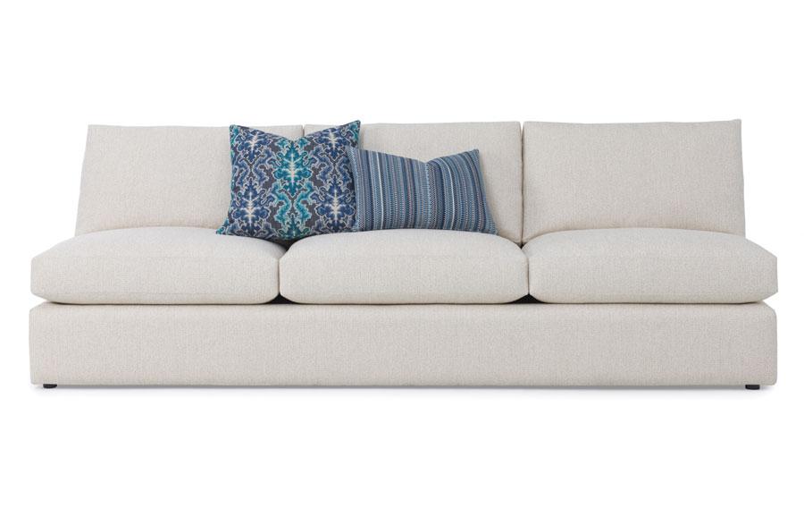 armless sofas coastal living sleeper ryker sofa thingz contemporary home room seating