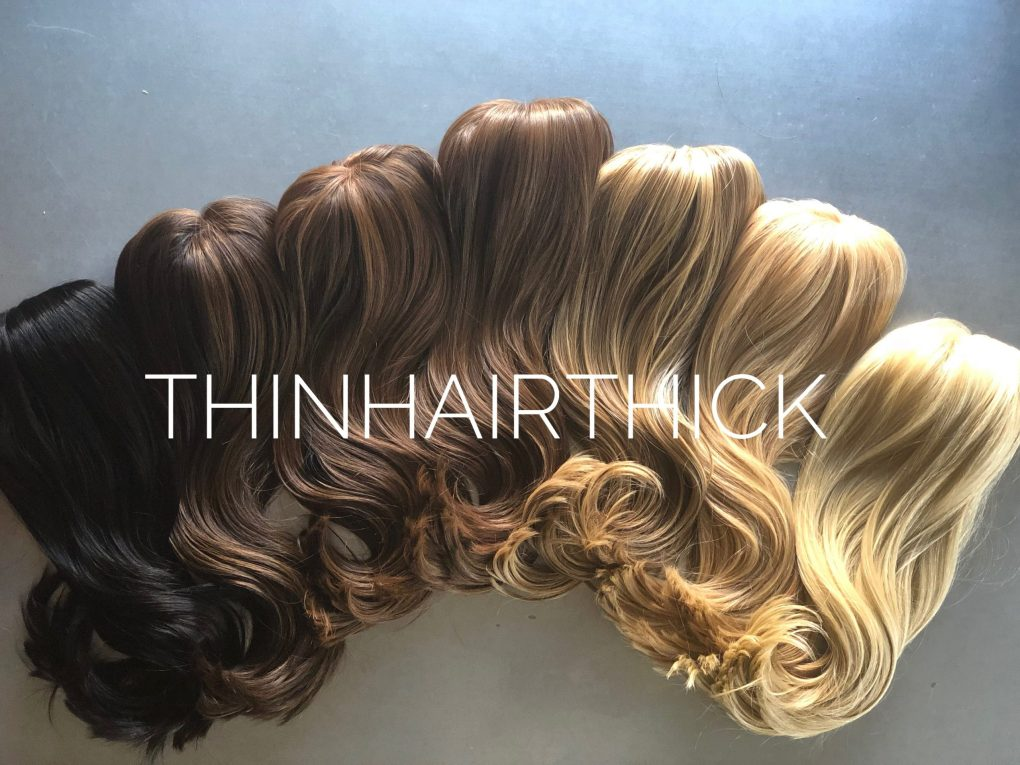 Synthetic hair in a range of colors