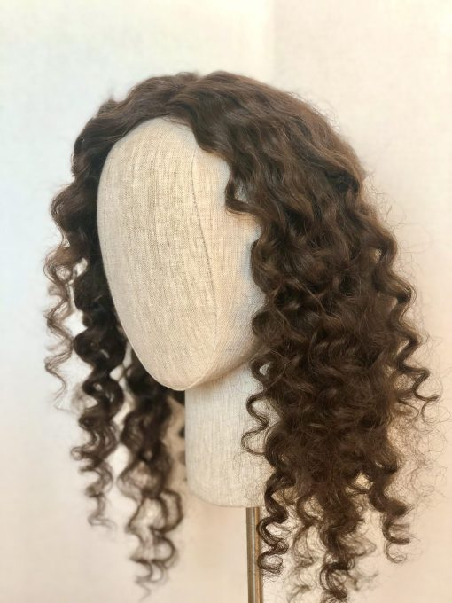 Textured Brunette Curl