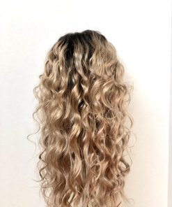Wig Rooted Medium Blonde Hair