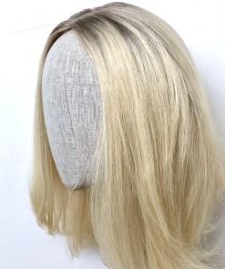 Ice Blonde Medium Length Wig
