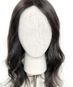 Soft Black Wavy Long Topper Wig