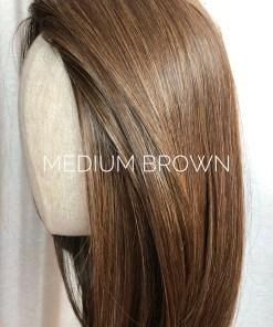 Synthetic Medium Brown Hair