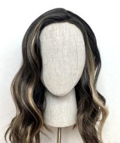 Synthetic Wig: Black Balayage
