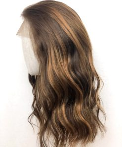 THT Topper: Lace Front Coral Brown – Long Length