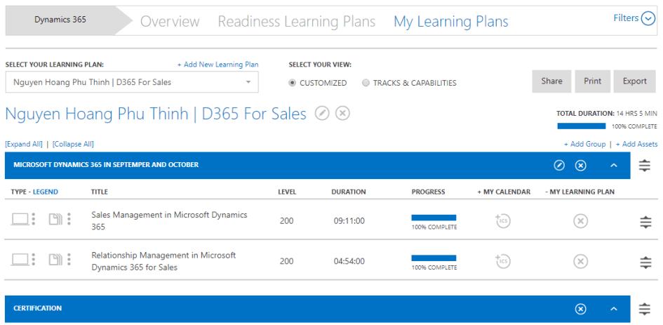 học trên Dynamics Learning Portal