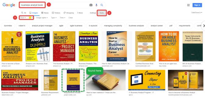 Tìm kiếm bằng Google Search Tools