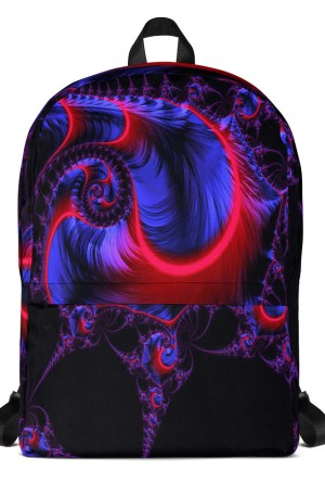 Backpack Neon Red Blue