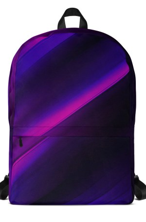 Backpack Black With Magenta