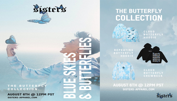 Sisters Apparel Butterfly Collection