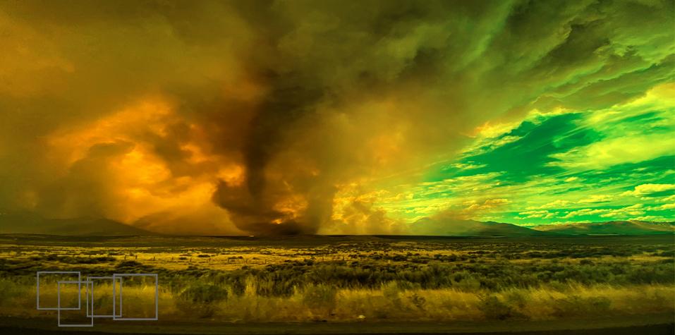 Fiery Tornado In California