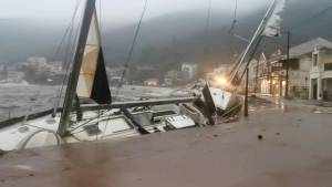 Strong Hurricane Janus 2020 Rages On The Greek Coast