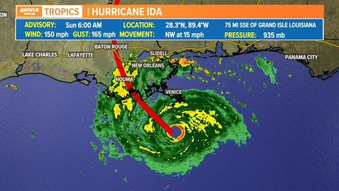 Hurricane Ida 2021 Is Approaching Cat 5