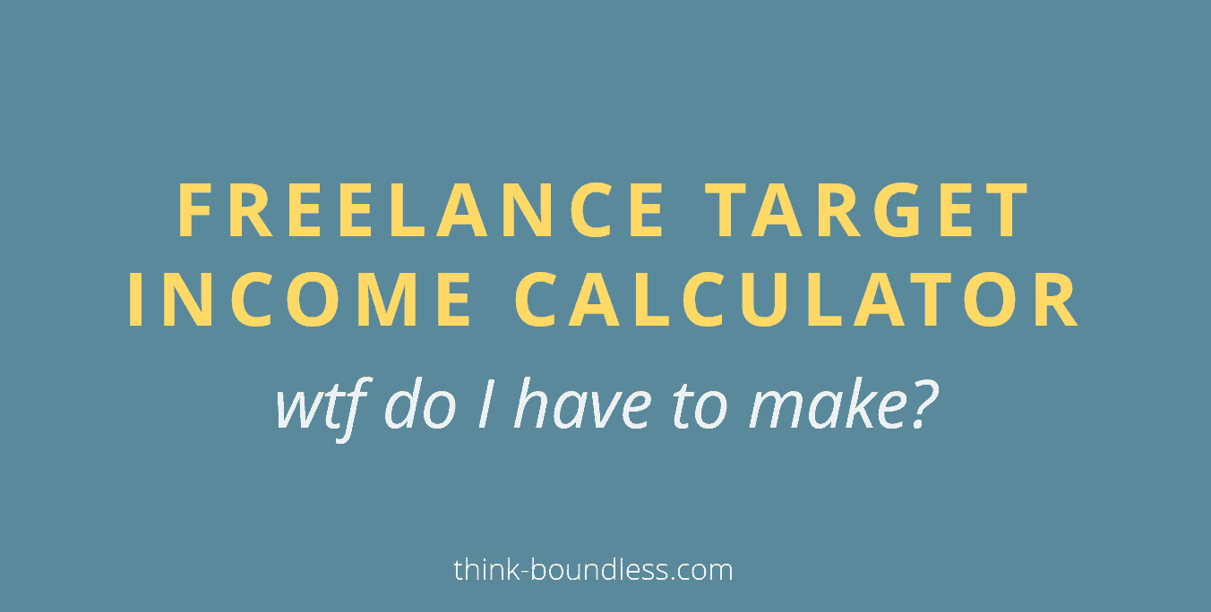 freelance target income calculator