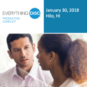 Everything DiSc Productive Conflict Showcase - January 30, 2018 - Hilo