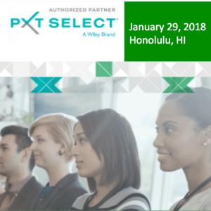 PXT Select Showcase - January 29, 2018 - Honolulu