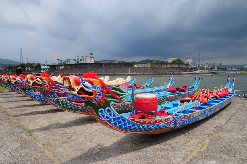 臺北龍舟為1970年代所發展出來的造形。(謝宗榮攝影)
